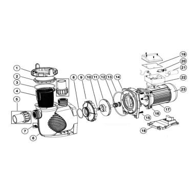 NO.15D DEX6000R แกนกลางS/S (DE 6020)
