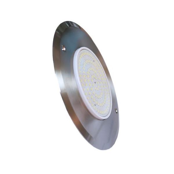 LED Light Slim 8W 12V DC Color Blue 8 mm Stainless Steel 316 Diameter 160 mm Jesta
