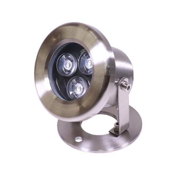 LED Light MODEL UW859 Color Warm White 9W 12V DC Stainless Steel 304 Body with Tripod Jesta