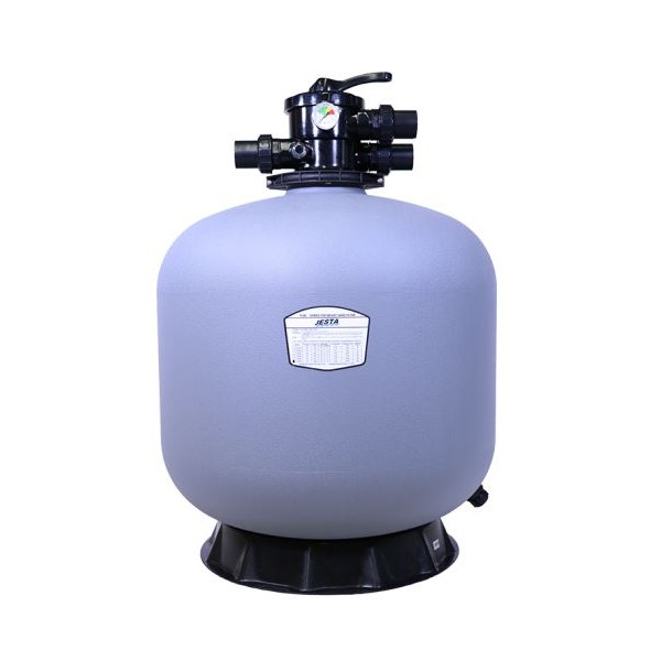 "P-DG500 21"" Thermo Plastic Top Mount Sand Filter Flow Rate 11.50 m³/h Multiport Valve Size 1.5"" Jesta"