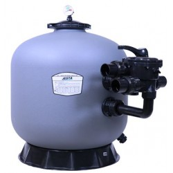 """P-CG500 21"""" Thermo Plastic Side Mount Sand Filter Flow Rate 11.5 m³/h Multiport Valve Size 1.5"""" Jesta"""