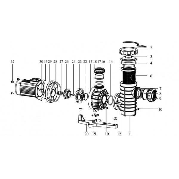 อะไหล่ปั๊ม Nozbart Super Taskin Pump Model PTF-035, PTF-045 and PTF-055