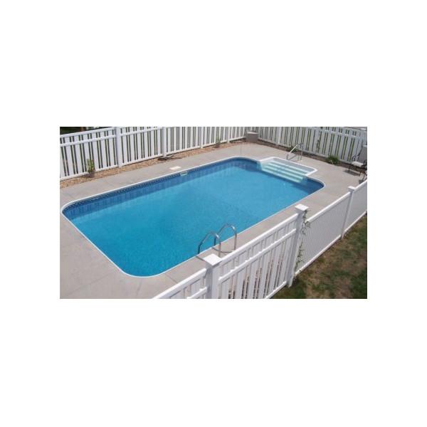 Liner สระว่ายน้ำสำเร็จรูป 3.70x7.30x1.2M