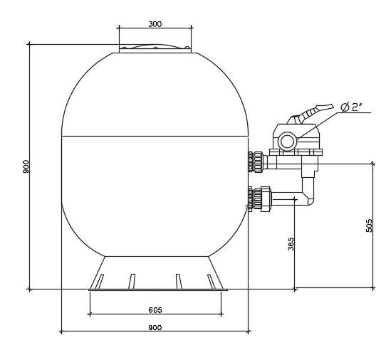 ถังกรองทราย Kripsol AK 900.c