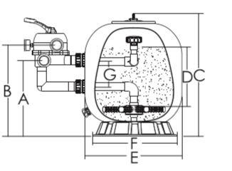 ถังกรองทราย Emaux S1000