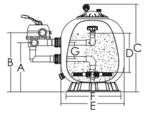 ถังกรองทราย Emaux S800