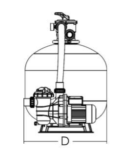 ถังกรองทราย Emaux FSF350