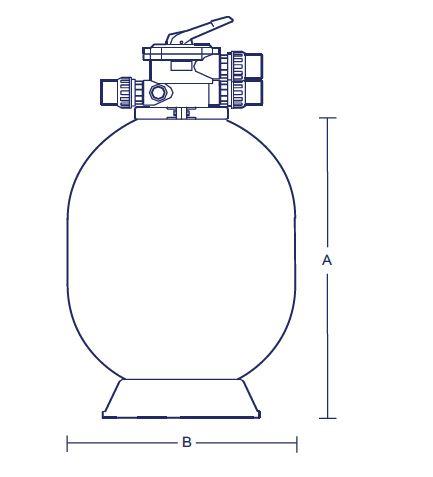 ถังกรองทราย Astralpool FG604