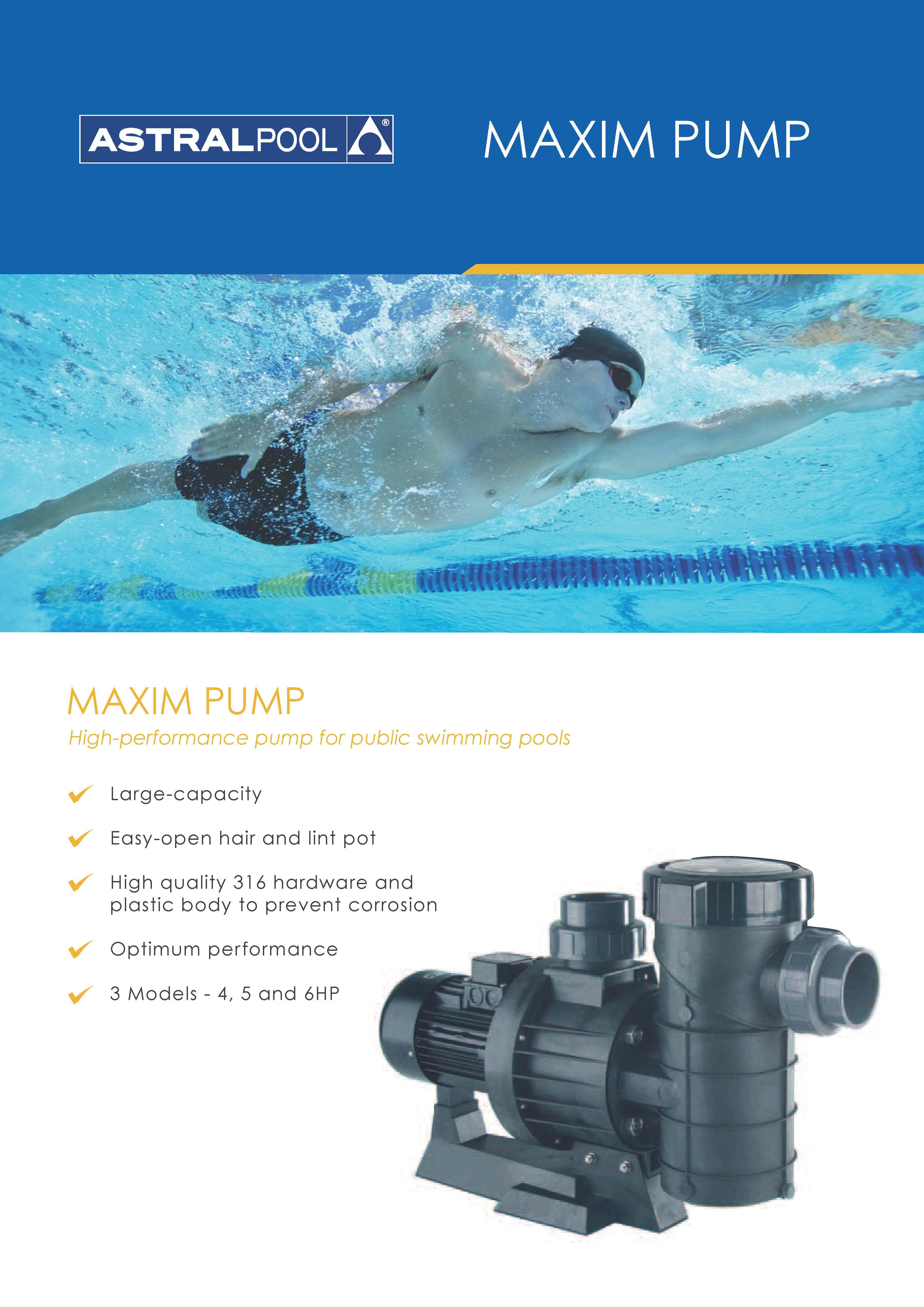 ปั๊มสระว่ายน้ำ Astralpool Maxim 3.5hp 380v