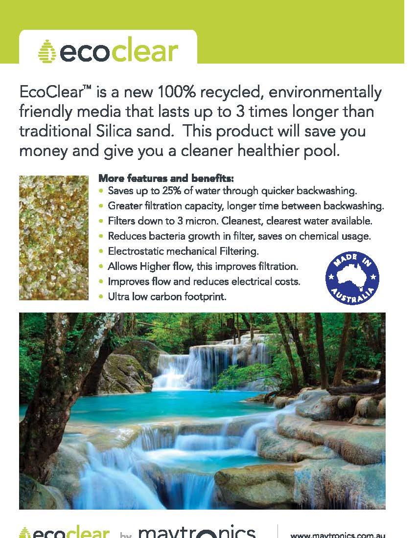 สารกรองสระว่ายน้ำ Ecoclear