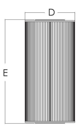 แผ่นกรองกระดาษ Emaux CF25-CE