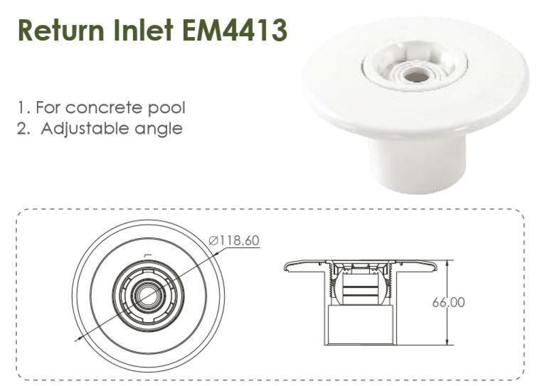 Emaux floor Inlet
