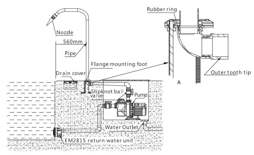 หัวน้ำพุ Emaux Model EM4401