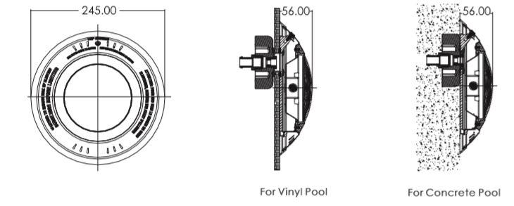 ไฟสระว่ายน้ำ Emaux NS75