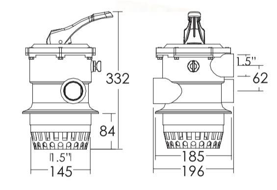 มัลติพอร์ตวาล์ว Emaux MPV01-V