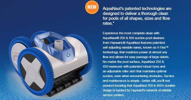 หุ่นยนต์ทำความสะอาดสระว่ายน้ำ Hayward AquaNaut200