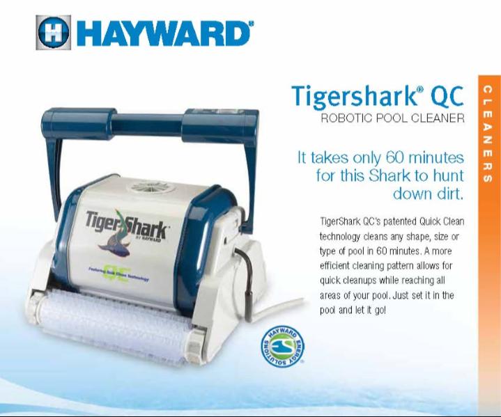 หุ่นยนต์ทำความสะอาดสระว่ายน้ำ Hayward TigerShark QC