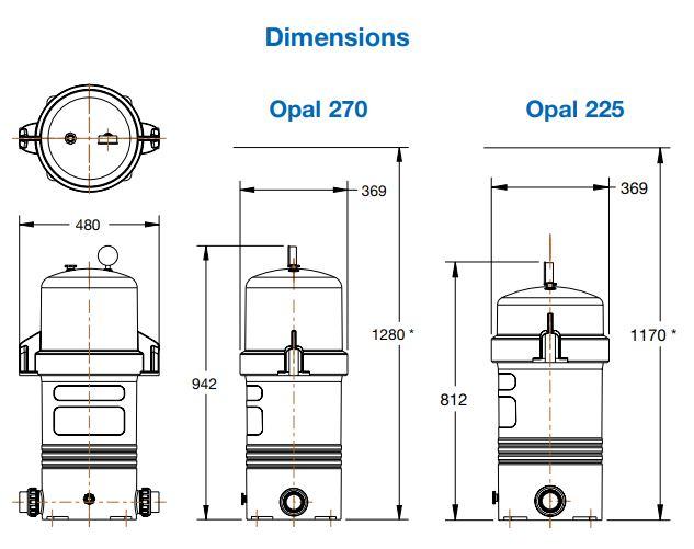 ถังกรองกระดาษWaterco Opal 255